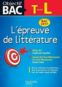 """Afficher """"L'épreuve de littérature terminale L"""""""