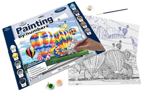 Royal & Langnickel Painting by Numbers Adult Large Art Activity Kit, Ballooning - 1