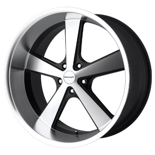 KMC Wheels Nova KM701 Gloss Black Wheel with Machined Face (20x10