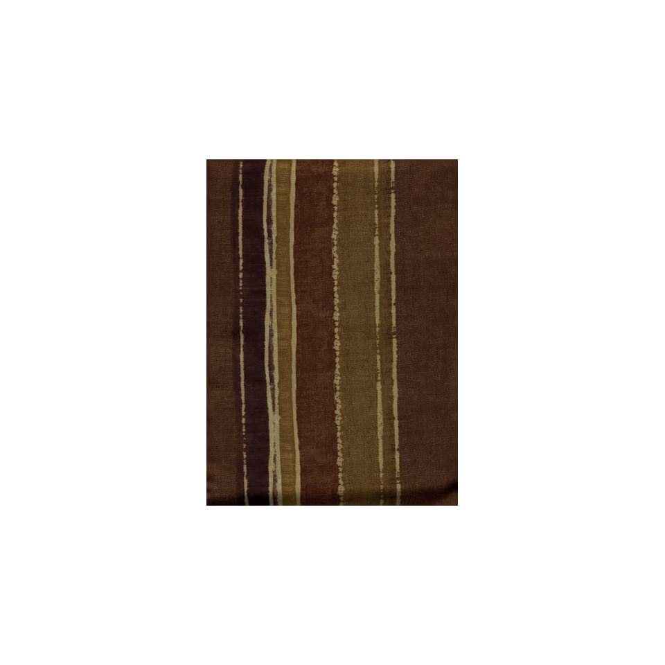 Armand Gold Fabric Shower Curtain Brown Gold Vertical