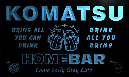q24058-b-komatsu-family-name-home-bar-beer-mug-cheers-neon-light-sign