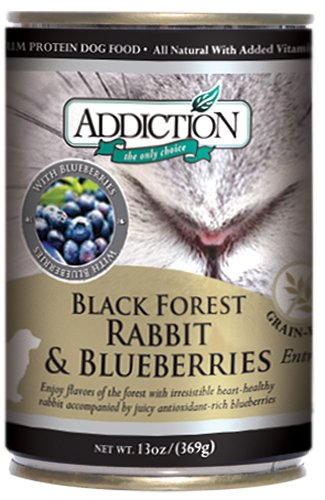 Black Forest Rabbit and Blueberries- Dog Food (12/13.8 Ounce Cans) (Addiction Canned Dog Food compare prices)