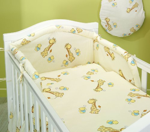 "Blueberry Shop Baby Cot Bed Bundle Duvet+Pillow Covers 35.5"" x 47"" (90Cmx120Cm) Cream 2 - 1"