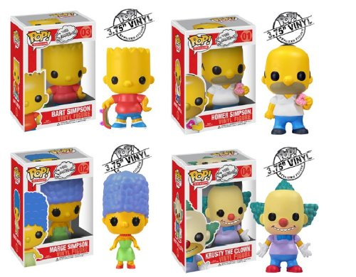 Funko Pop Simpsons 4 Piece Vinyl 4