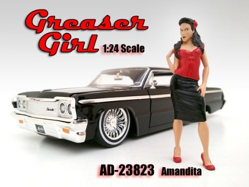 Greaser Girl Amandita Figurine / Figure For 1:24 Models by American Diorama 23823