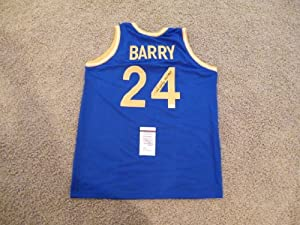RICK BARRY SIGNED AUTO GOLDEN STATE WARRIORS JERSEY HOF 1987 JSA AUTOGRAPHED by Sports Memorabilia