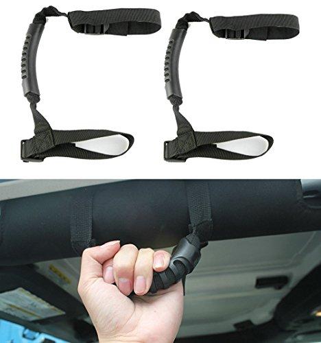 Camoo-2-X-Grab-handle-grips-Grab-bar-Hand-Hold-ATV-UTV-roll-cages-for-Polaris-Honda-Yamaha-Kawasaki-ATV-UTVs-Black
