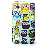 CaseiLike®, S06C3300-Baby Blue, Multi Owl Graphic, Snap-on hard case back cover for Samsung Galaxy Ace S5830 GT-S5830 S5830T S5830i with Screen Protector