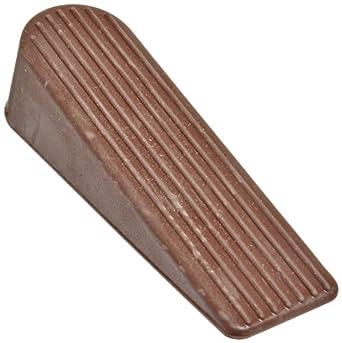 """Impact 7260 Rubber Wedge Mini Door Stop, 4"""" Length x 1"""" Width x 1"""" Height, Brown (12 Bags of 24)"""