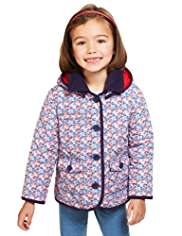 Quilted Floral Coat with Stormwear™