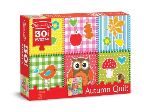 Melissa & Doug Autumn Quilt Cardboard Jigsaw Puzzle, 30-Piece - 1