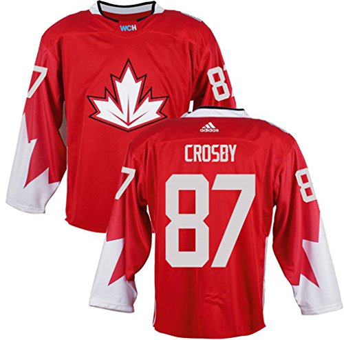 Mens Team Canada #87 Sidney Crosby 2016 World Cup of Hockey Olympics Game Red Jerseys(L)