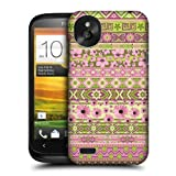 Head Case Designs Green and Pink Floral Aztec Protective Snap-on Hard Back Case Cover for HTC Desire X