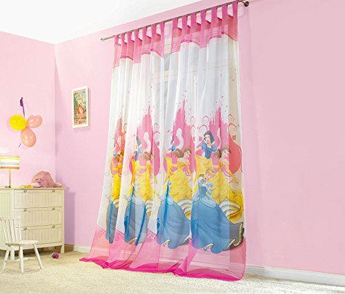 g stig online shoppen kinderzimmer gardinen vorhang set motiv princess. Black Bedroom Furniture Sets. Home Design Ideas
