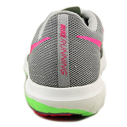 Nike Women's Flex Fury 2 Wolf Grey/Hyper Pink/Vltg Grn/Drk Running Shoe 9 Women US