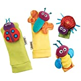 Lamaze Infant Baby Wrist Rattle and Foot Finder Socks 4 Piece Set