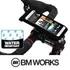 BM WORKS Slim3 R Water Resistant Bike Mount Smartphone Bicycle Phone Case Holder for iPhone 5S, 5C, 5, 4S, 4 , Droid RAZR, Droid X, Droid Incredible 3, 2 , HTC EVO , HTC Inspire 4G, HTC Desire, HTC Sensation, Backberry Torch , Samsung Galaxy S5, S4 , Nexus 5, 4, 3 , Note 3, 2 (Large)