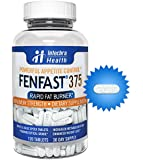 FENFAST® 375 - Rapid Fat Burning Diet Pills With Increased Energy - White & Blue Speck Tablets 120 - Clinically Proven Weight Loss Ingredients Made in USA