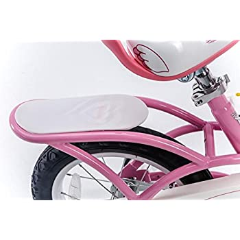 RoyalBaby Little Swan Girl's Bike with basket, 14 inch with training wheels, 18 inch with kickstand, gifts for kids, girls' bicycles