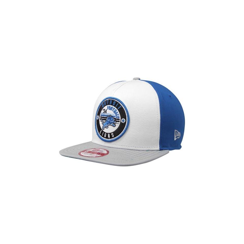 NFL New Era Detroit Lions Retro Circle Snapback Hat White Light Blue Gray  Sports Fan Baseball Caps Sports   Outdoors 7339dba2f5ab