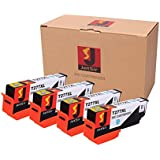 JetSir Remanufactured Replacements for Epson 277XL Set of 4 High Yield Inkjet Cartridges T277XL120 Black use in Epson Expression XP 850, 860, and 950 Printers
