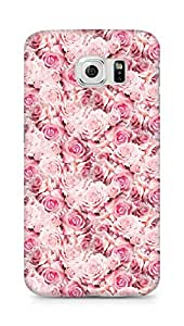 AMEZ designer printed 3d premium high quality back case cover for Samsung Galaxy S6 (pink rose)