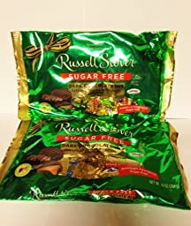 Russell Stover Sugar Free Candy Dark Chocolate Mix 10 oz Bag (Pack of 2)