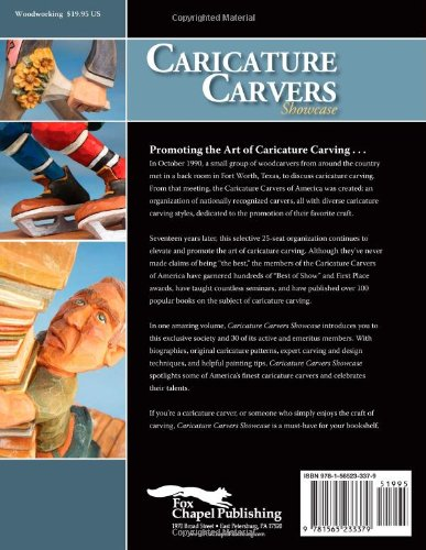 Caricature Carvers Showcase: 50 of the Best Designs and Patterns from the Caricature Carvers of America (Woodcarving)