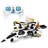F22 Raptor Styled 2.4g 4ch 6 Axis Rc Quadcopter With Led Light - B0150VEMPM