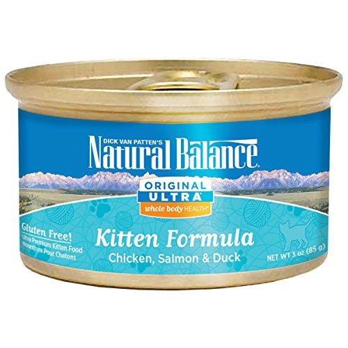 Natural Balance Original Ultra Whole Body Health Chicken, Salmon & Duck Kitten Formula Canned Cat Food
