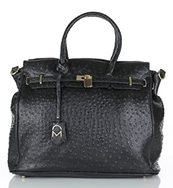 Noble Mount London Office Tote - Ostrich Black