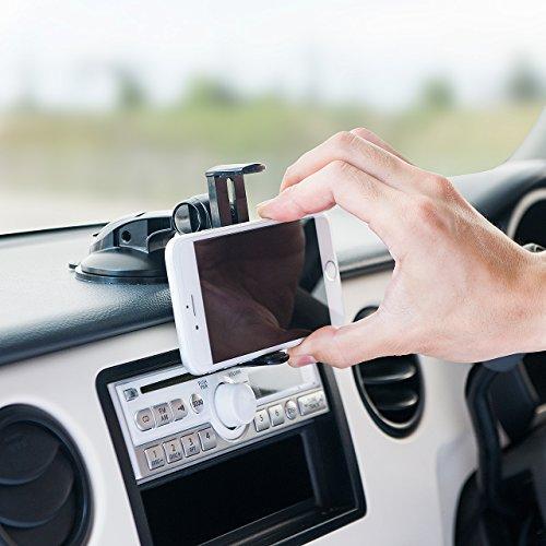 【iPhone 6シリーズ対応】ダッシュボード上の視界を遮らないスマートフォン車載ホルダー(200-CAR040)