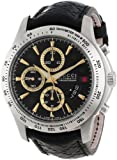 """Gucci Mens YA126237 """"G-Timeless"""" Stainless Steel and Leather Black Diamond-Pattern Dial Watch"""