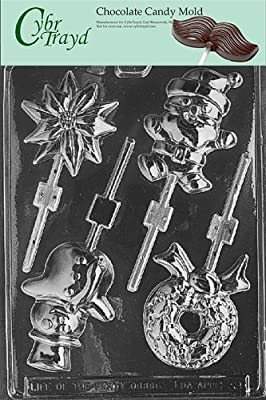 Cybrtrayd C039 Assorted Lollies Life of the Party Chocolate Candy Mold with Exclusive Cybrtrayd Copyrighted Chocolate Molding Instructions