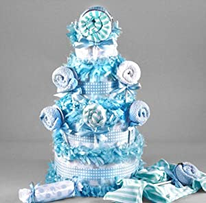 lollipop baby shower diaper cake for boys