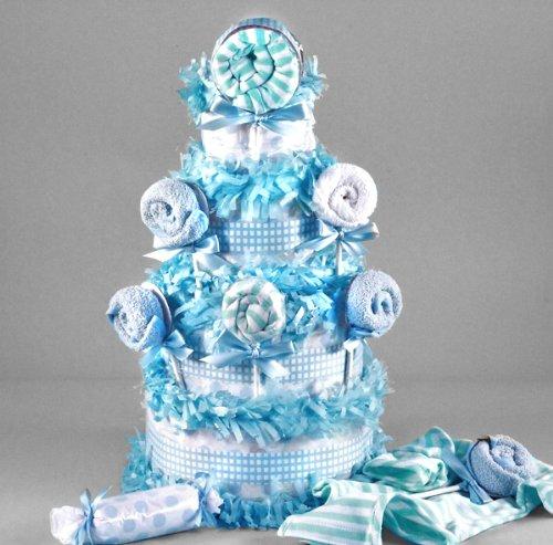Lollipop Baby Shower Diaper Cake for Boys