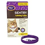 "Sentry Calming Collar for Cats - Up to 15"" neck - 3 pk"