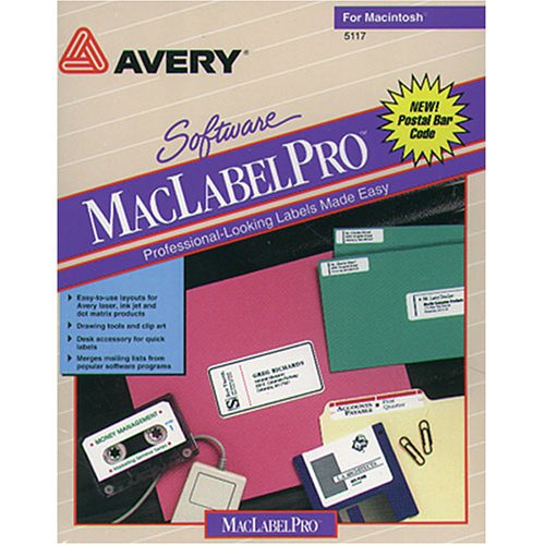 Avery Software MacLabelPro Label Maker for Macintosh