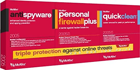 McAfee Anti-Spyware Version 1.0/Firewall Version 6.0/QuickClean Version 5 Bundle