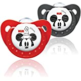 NUK Mickey & Minnie Size 2 Silicone Soother - 2 pack (6-18 months, colours may vary)