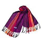 Blancho Pashmina Womens Pa A82 5 Multi Colors Rose Tassel Ends Pashmina