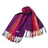 Blancho Pashmina Womens Pa A82 5 Multi Colors Rose Tassel Ends Pashmina
