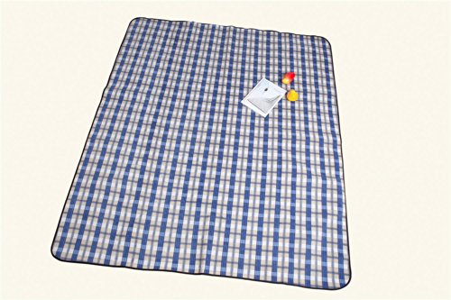 Monstar Classic Plaid Outdoor Blanket - Water Proof Backing Luxury Soft Chequered Style Xx-Large Picnic Rug - Easy To Fold - Perfect For Beach, Travel, Picnic Blanket - Size On 69X79 Inch front-1069630