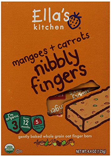 Ella's Kitchen 3 Nibbly Fingers - Mangoes & Carrots - 4.4 oz - 1