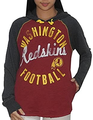 NFL Womens Washington Redskins Athletic Pullover Vintage Look Hoodie