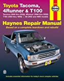 img - for TOYOTA TACOMA (1995-2004), 4RUNNER (1996-2002) & T100 (1993-1998)(Haynes Repair Manual) book / textbook / text book