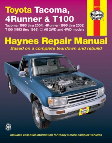 Toyota Tacoma , 4Runner  & T100 Automotive Repair Manual (2000 4runner Service Manual compare prices)