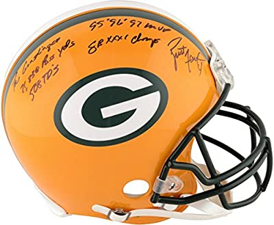Brett Favre Green Bay Packers Autographed Proline Helmet with Multiple Inscriptions - #5-11 of a Limited Edition of 12 - Fanatics Authentic Certified