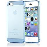 delightable24 Schutzhülle TPU Silikon Apple IPHONE 5 / 5S Smartphone - Blau Transparent