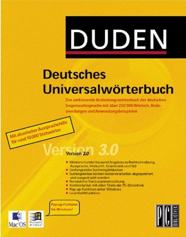 duden deutsches universalw rterbuch 3 0 duden co. Black Bedroom Furniture Sets. Home Design Ideas